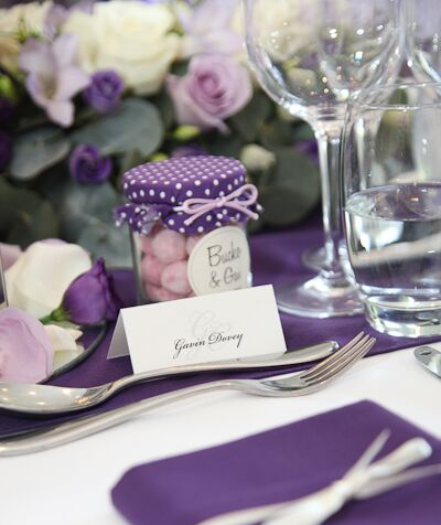 matching personalised table stationery