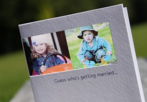 baby photos save the date