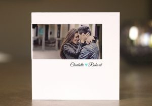 couple photo wedding invite