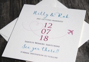 wedding abroad save the date