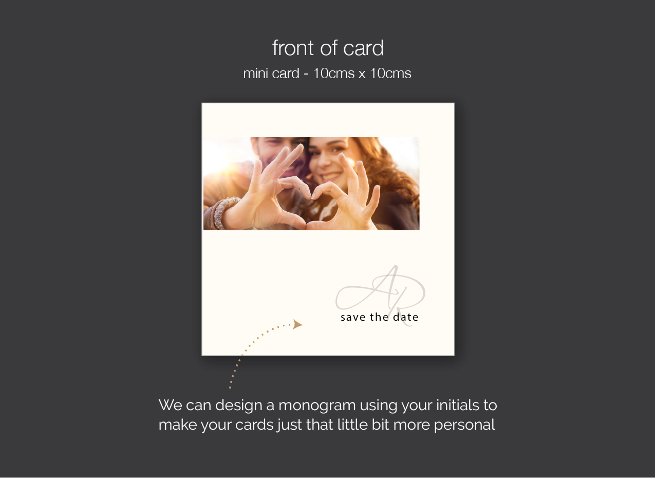 selfie save the date card