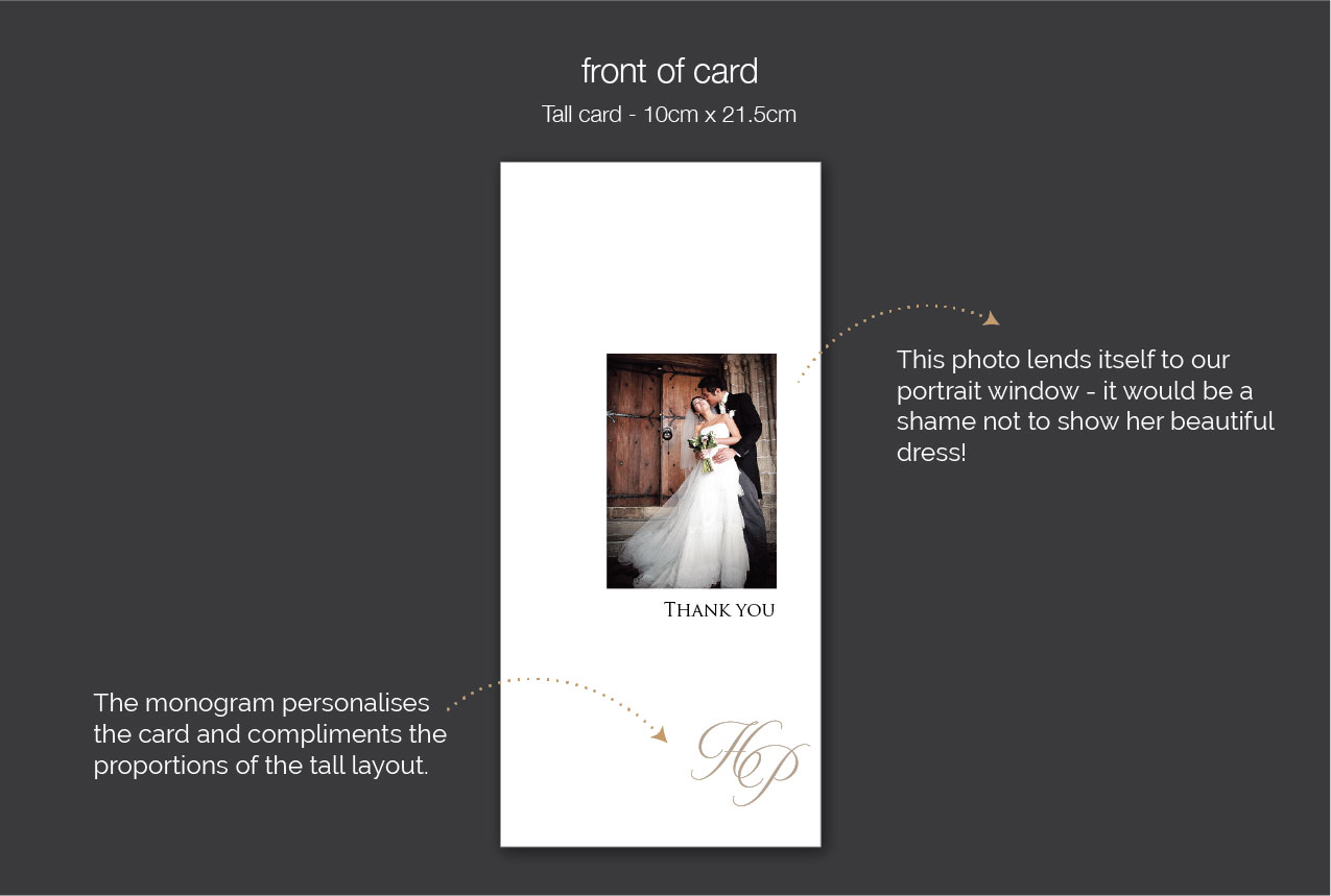beautiful wedding thank you cards using your photograph