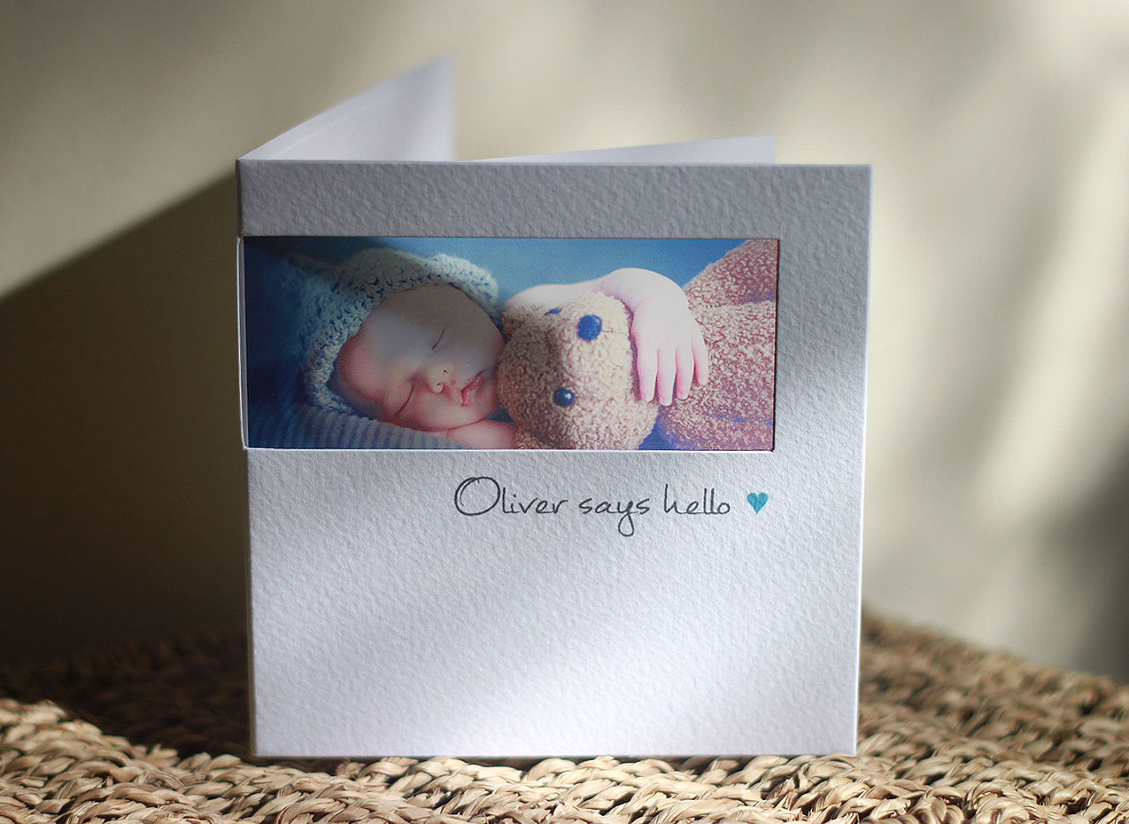 gorgeous new baby photo cards