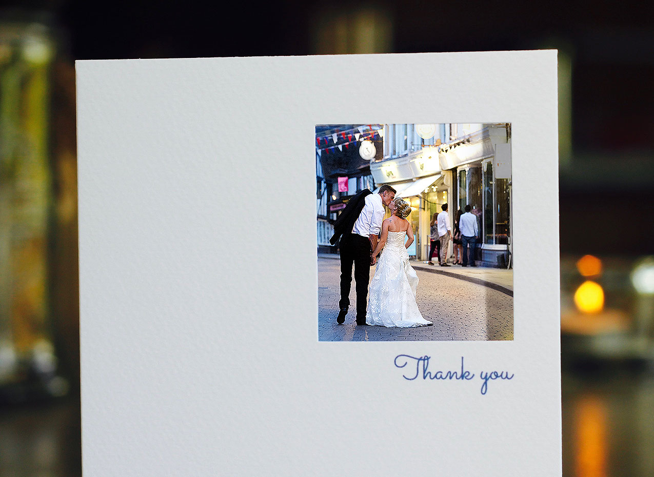 personalised photo wedding thank you cards