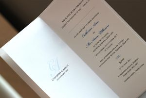 wedding invitations using photo of your venue