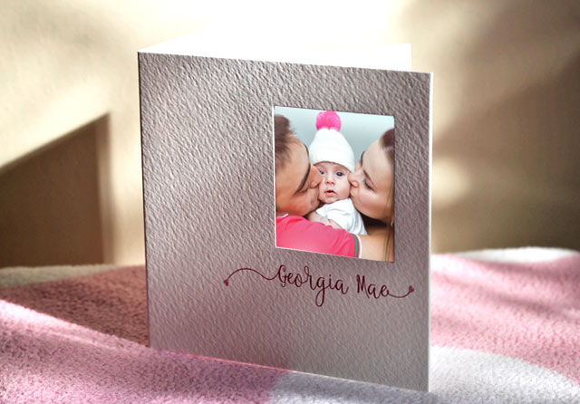 gorgeous baby thank you cards
