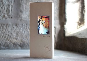 beautiful personalised wedding thank you cards