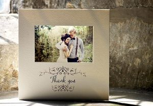 beautiful personalised vintage wedding thank you cards
