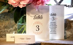 wedding table stationery cards