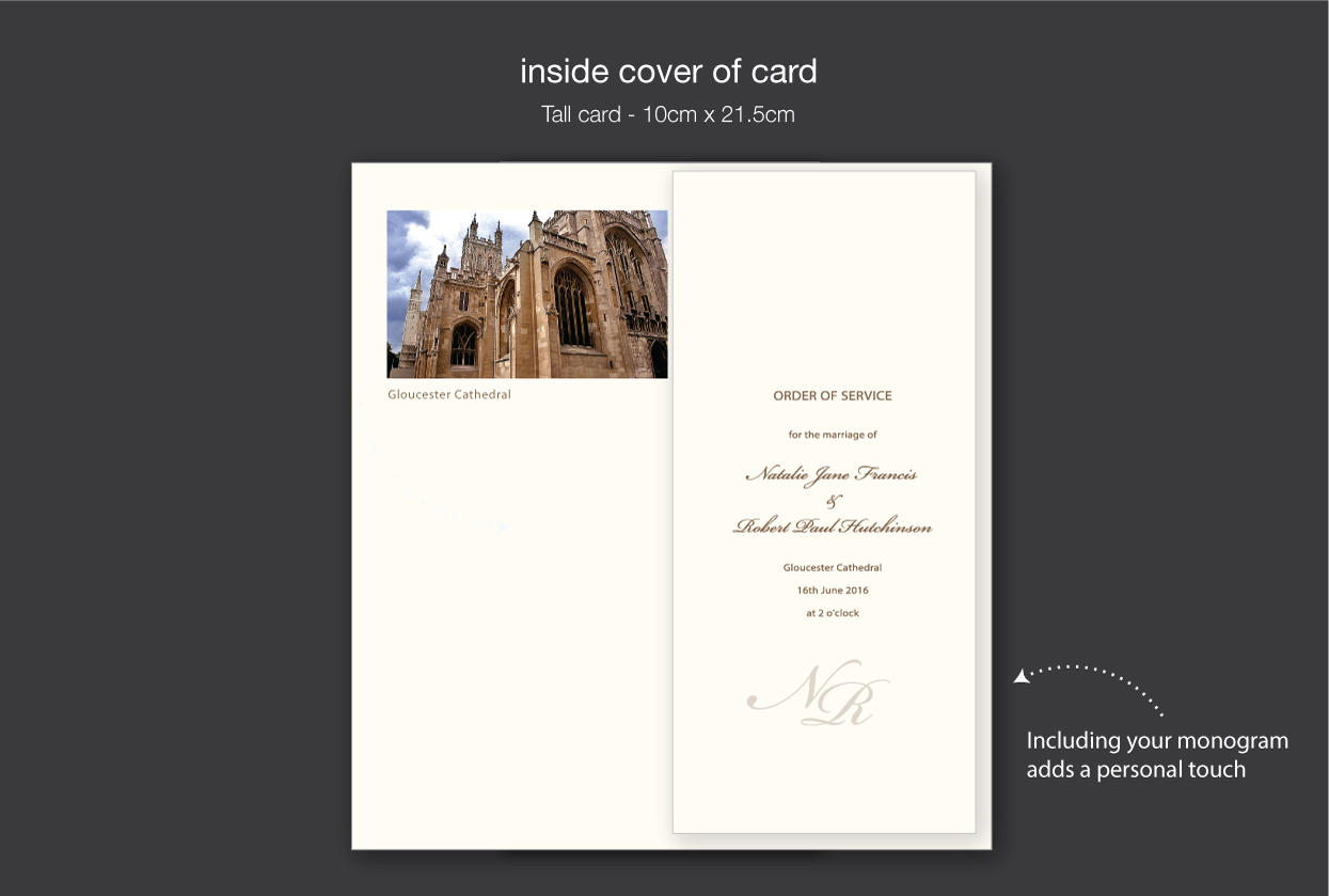 personalised orders of service using your church photo