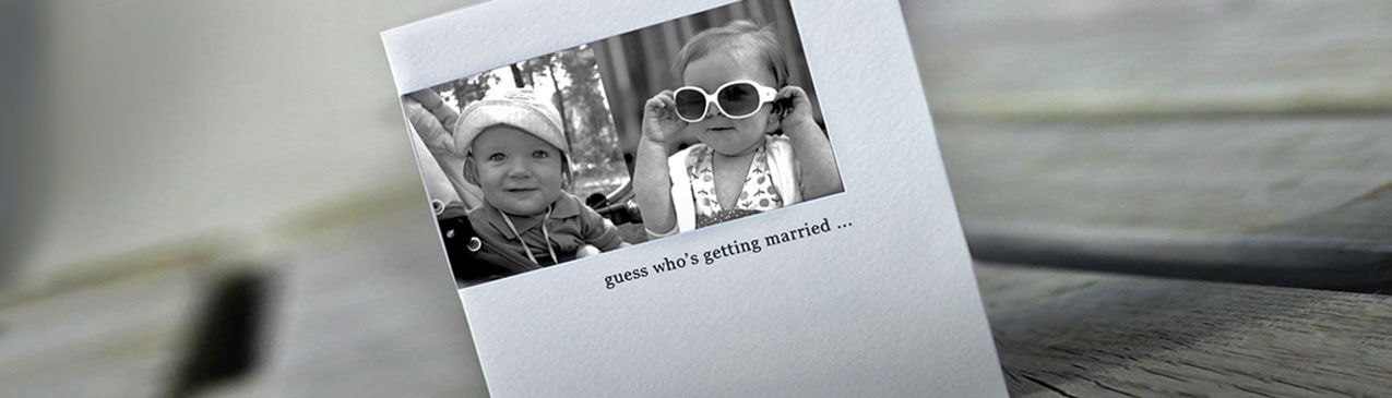 wedding invites using baby photos