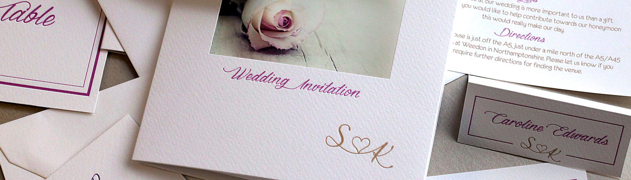 bespoke personalised wedding stationery