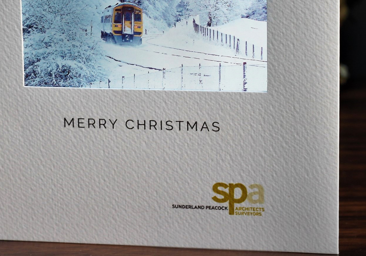 special logo on christmas cards