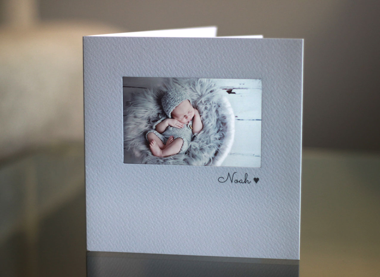 Beautiful personalised christening invitations with baby photo