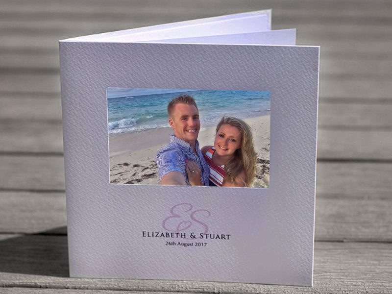 personalised wedding invitation