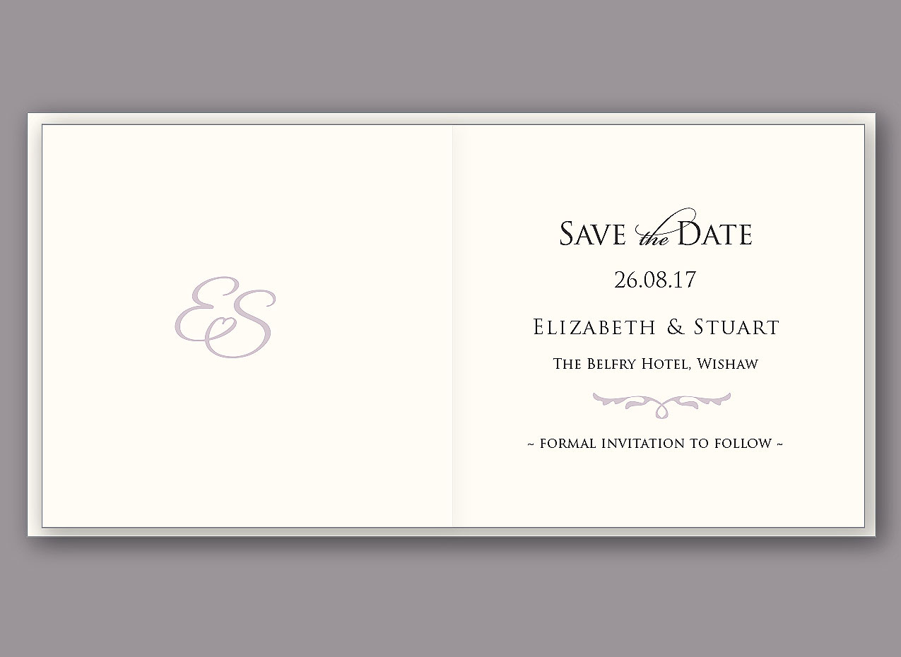 personalised save the date card