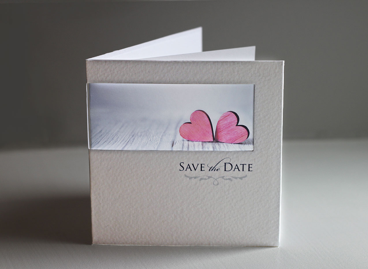 save the date cards personalised with your photo