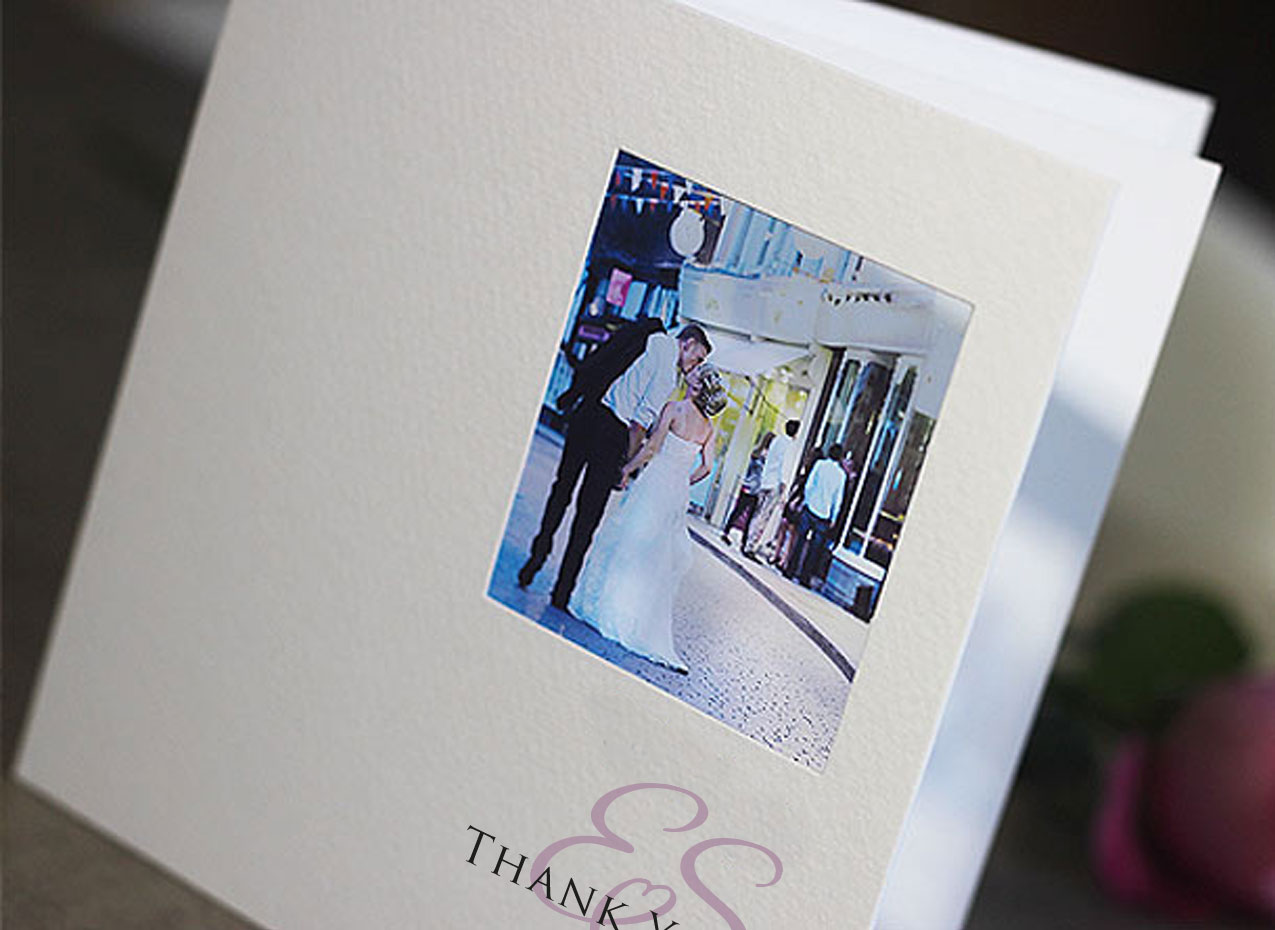 beautiful wedding thank you cards with your photo