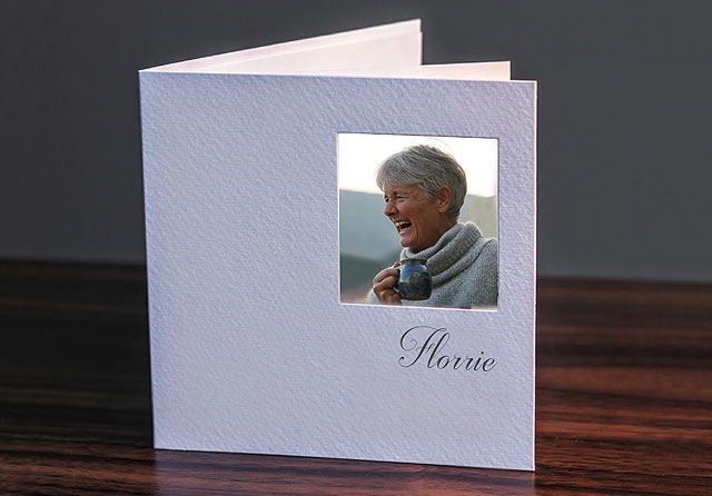 remembrance thank you cards with photo