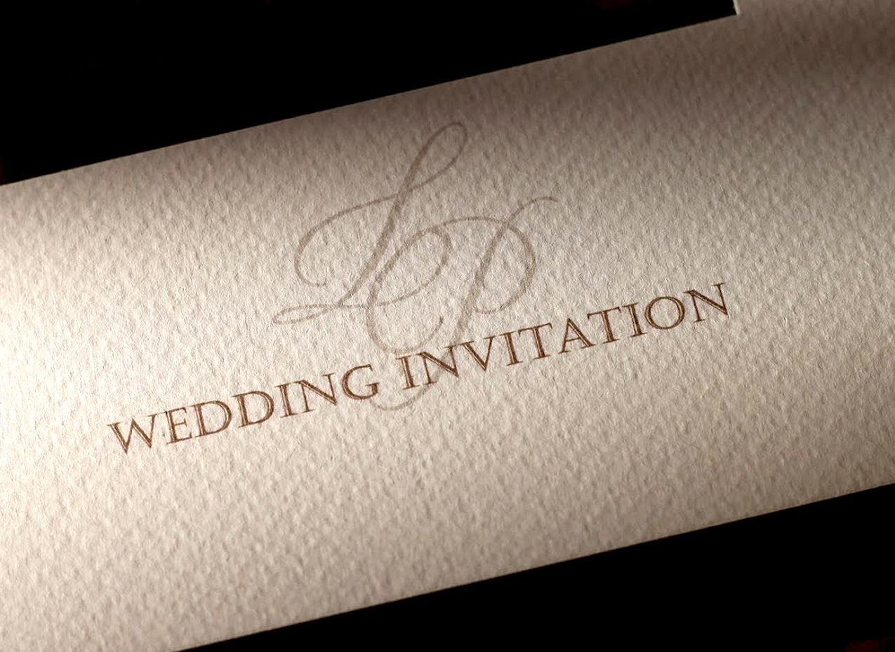 monogram on wedding invitation