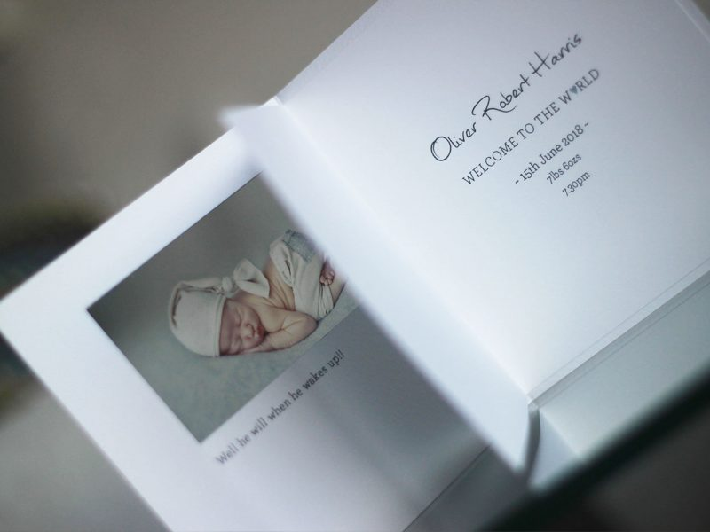 Beautiful personalised birth announcement cards
