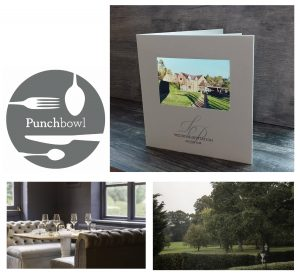 bespoke wedding invites for boutique hotel. The Punchbowl in Lapworth