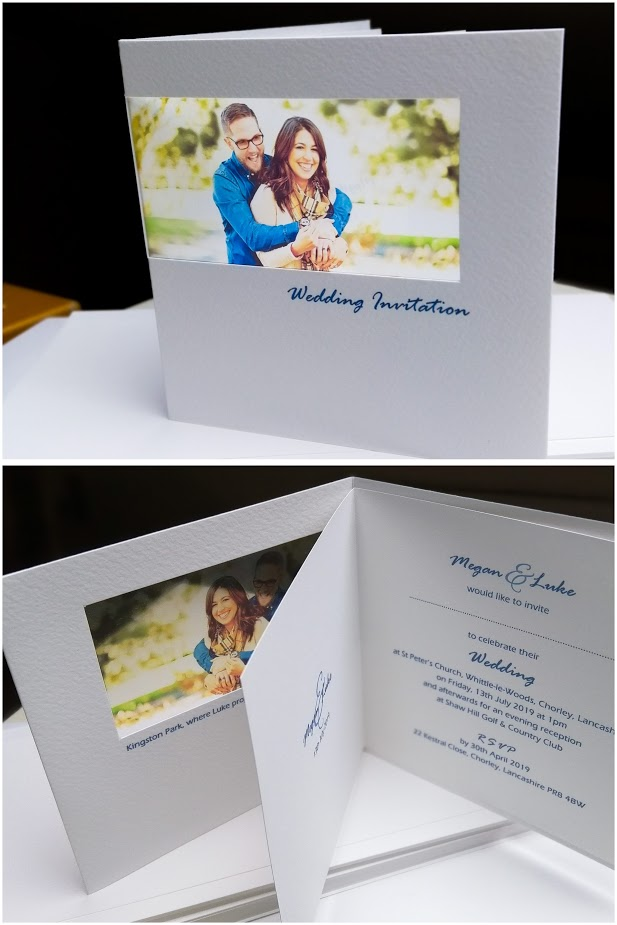 Modern couple wedding invites